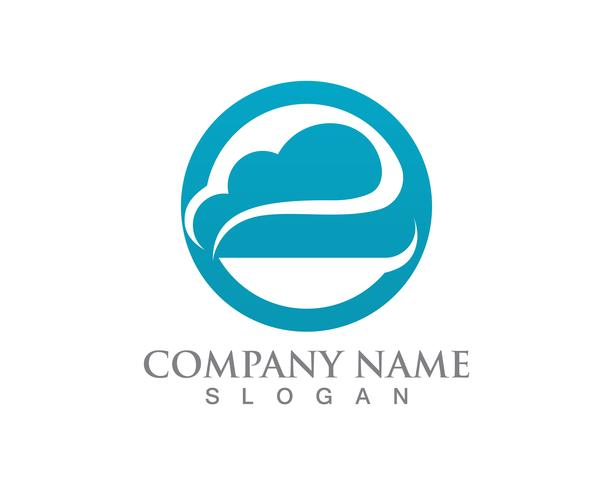 Icone di dati e simboli di server logo nuvola vettore