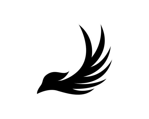Vleugels vogel teken abstracte sjabloon pictogrammen app vector
