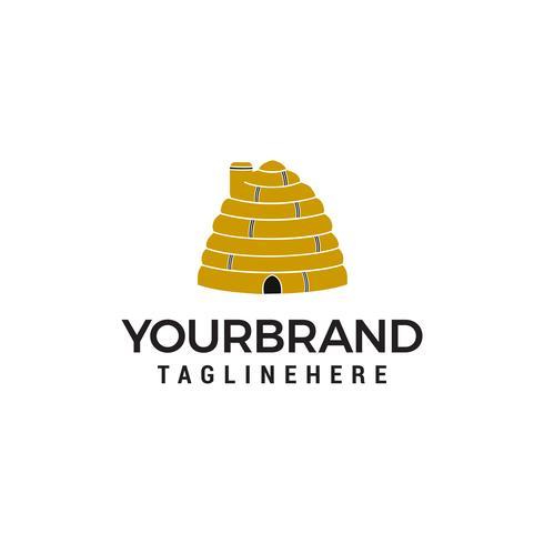 bijenhuis logo ontwerp concept sjabloon vector