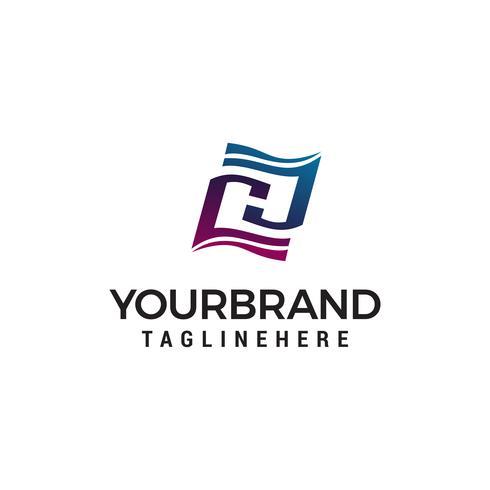 letter h onderwijs logo ontwerp concept sjabloon vector