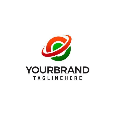 letter e wereldbol logo ontwerp concept sjabloon vector