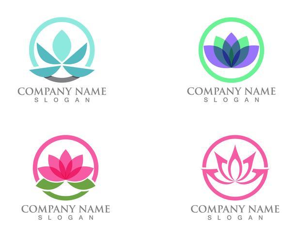 Signe de fleur de lotus pour le bien-être, le spa et le yoga