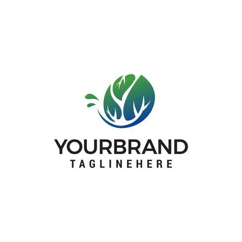 Baum Konzept Logo Design Konzept Vorlage Vektor