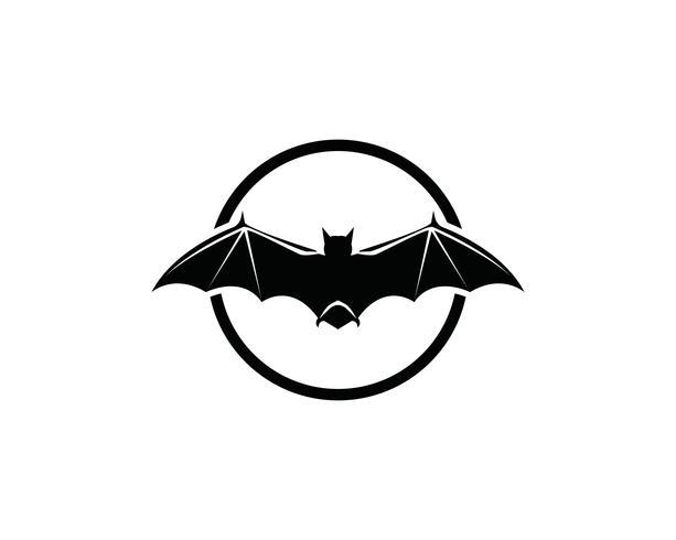 Bat-logotyp och symbolmall vektor