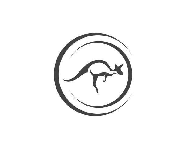 Kangaroo jump animal logo y simbolos