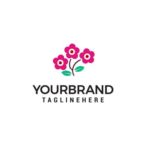 vector de plantilla de concepto de diseño de logotipo de flor rosa