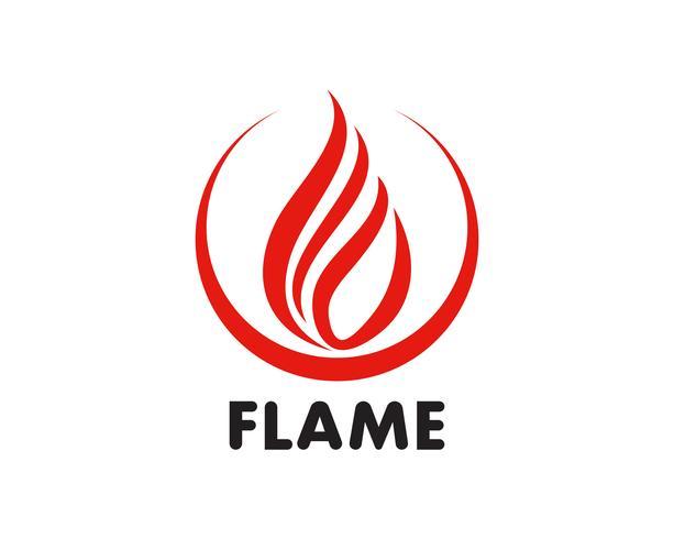 Brand flamma Logo Mall vektor ikon Oljeproduktion, gas och energi logotyp koncept