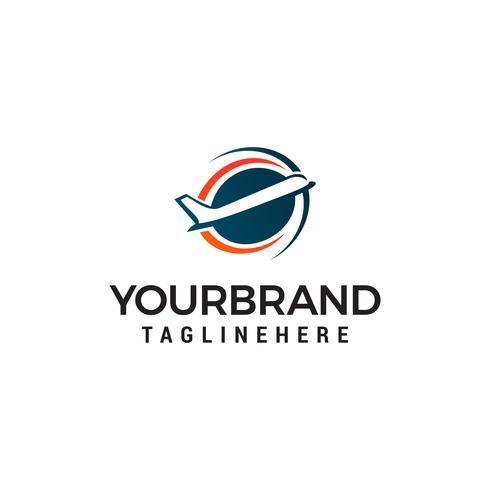 vliegtuig logo ontwerp concept sjabloon vector