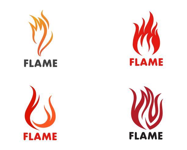 Feuer Flamme Logo Template-Vektor-Symbol Öl, Gas und Energie-Logo-Konzept