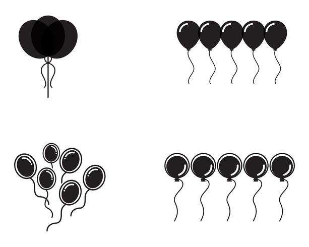 Palloncini festivi di vettore volante lucidi con palloncini lucidi per le vacanze