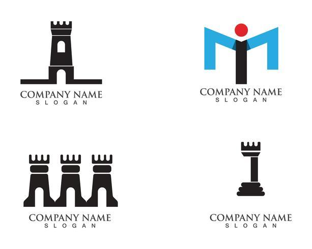 vettore di simboli e logo di fortezza