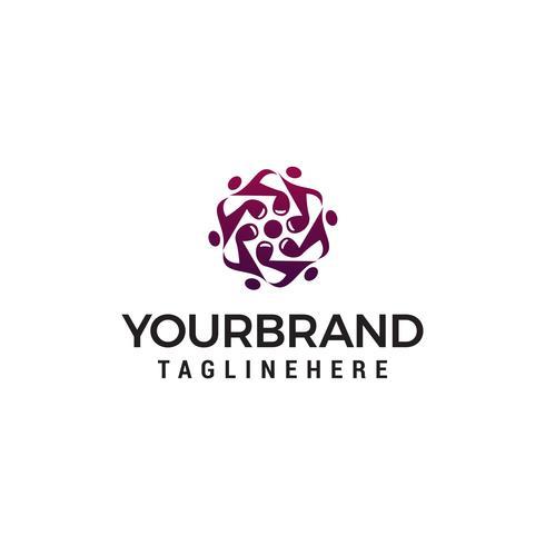 Nota logotipo diseño concepto plantilla vector