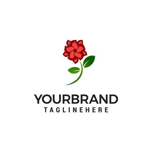 bloem roos logo ontwerp concept sjabloon vector