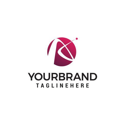Resumo carta um vetor de modelo de conceito de design de logotipo
