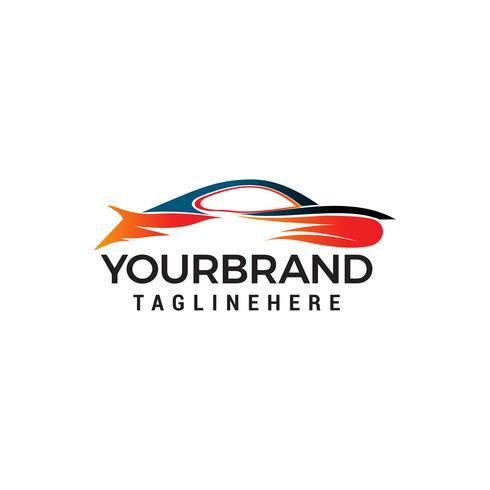 vettore del modello di concetto di progettazione di logo dell'automobile