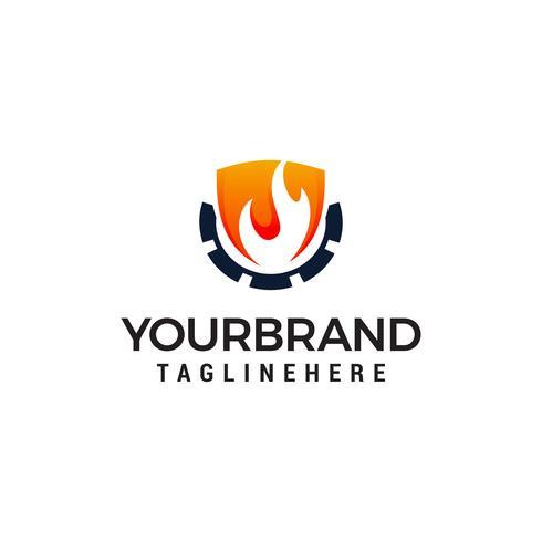 vettore di modello di fiamma logo design concetto modello. Modello di logo di industria petrolifera