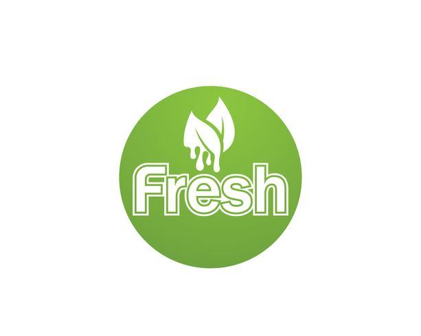 Fresh logo et symboles vector icon template nature