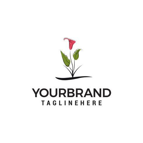 flower logo design concept template vector