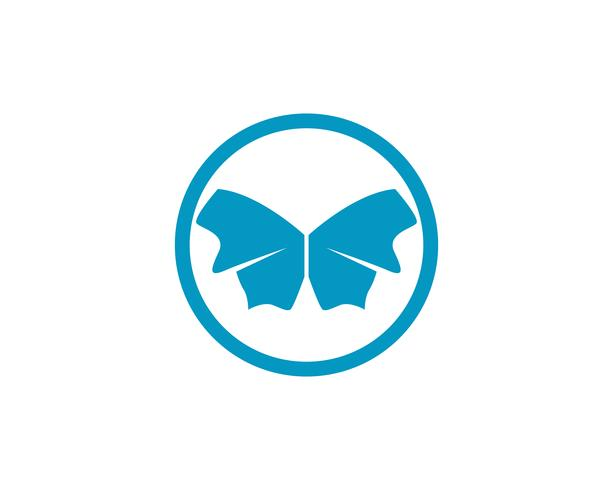 Papillon conceptuel simple, icône colorée Illustration vectorielle vecteur