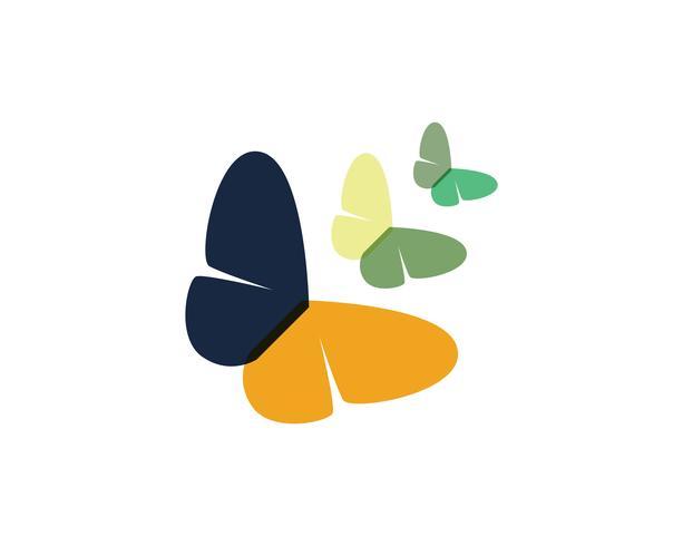 Farfalla bellezza logo semplice, icona colorata. Logo. Illustrazione vettoriale