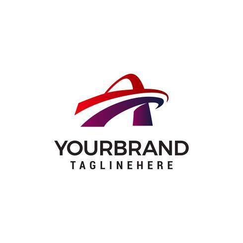 letter A snellere logo-ontwerpsjabloon vector