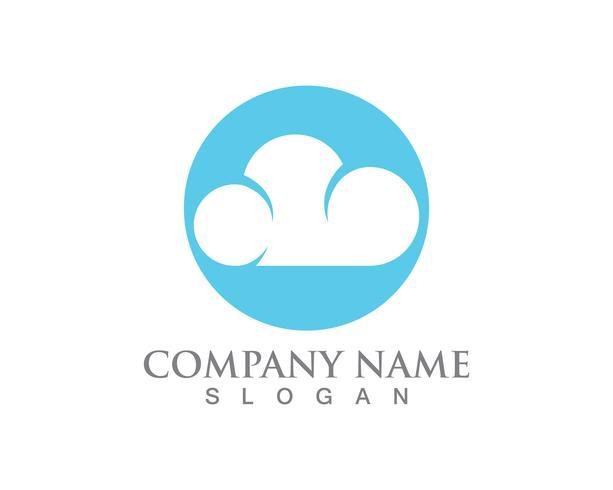 Cloud Logo Server Daten und Symbole Symbole vektor
