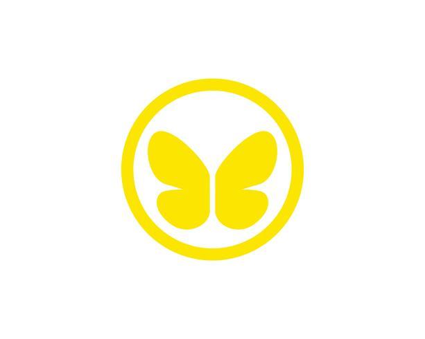 Borboleta simples conceitual, colorido ícone ilustração vetorial vetor