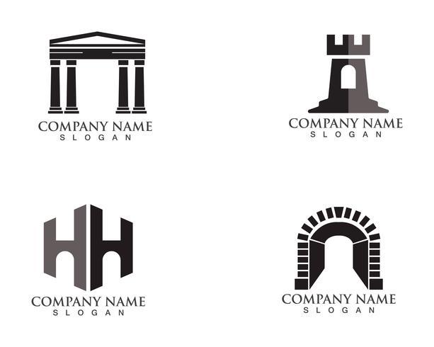 vector de logotipo y símbolos de fortaleza