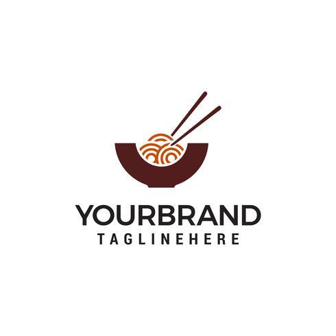 Nudeln Logo Design Konzept Vorlage Vektor