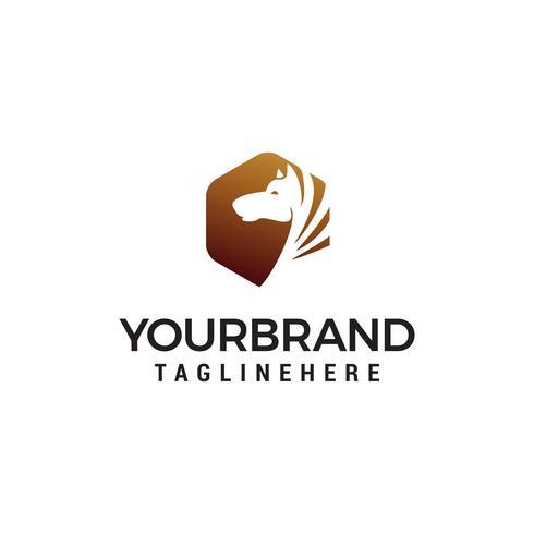 tête cheval logo design concept template vecteur