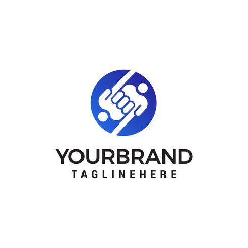 mano persone logo design concetto modello vettoriale