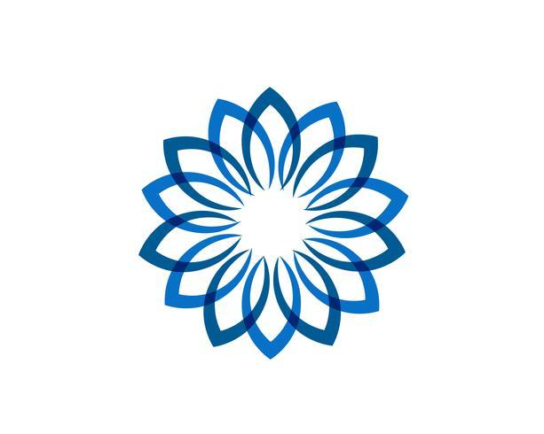 Blad bloemenpatronenembleem en symbolen op een witte achtergrond vector