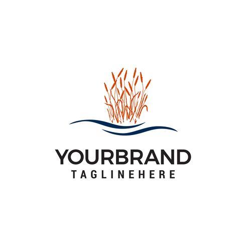 vector de plantilla de concepto de diseño de logotipo de hierba