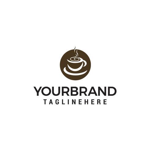 Taza de café logo diseño concepto plantilla vector