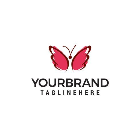 vettore del modello di concetto di progettazione di logo della farfalla