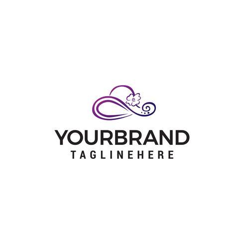 kvinnor hatt logo design koncept mall vektor