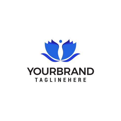 personnes spa logo design concept template vecteur
