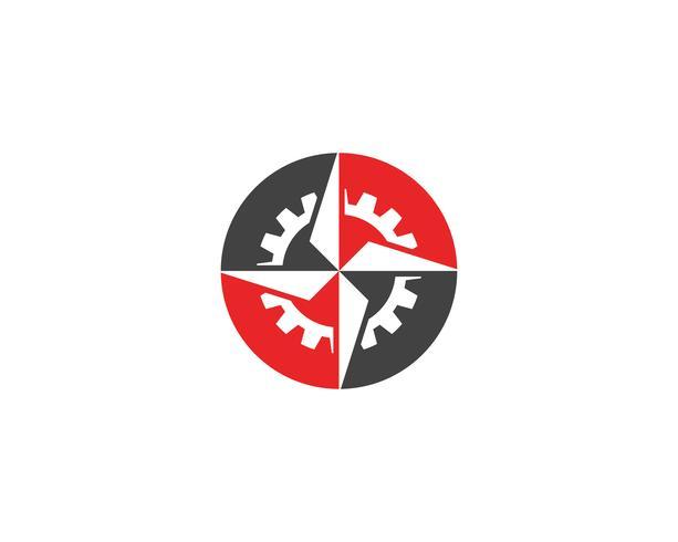 Immagine vettoriale di bussola logo e simbolo modello icona