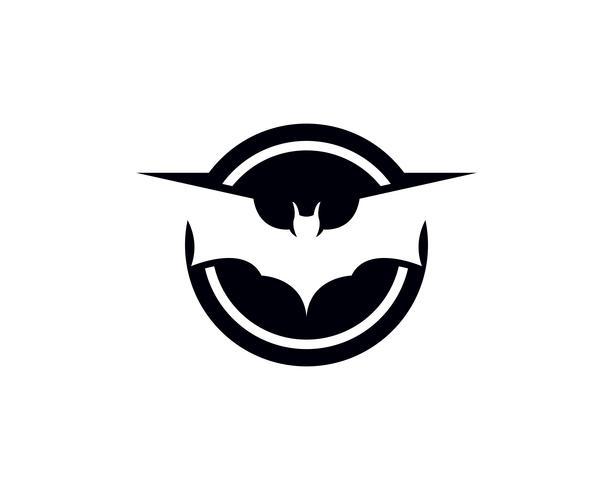 Bat-logotyp och symbolmall