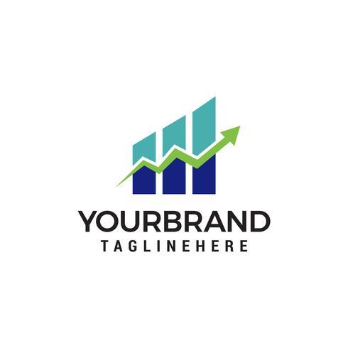 financial arrow growth logo design concept template vector