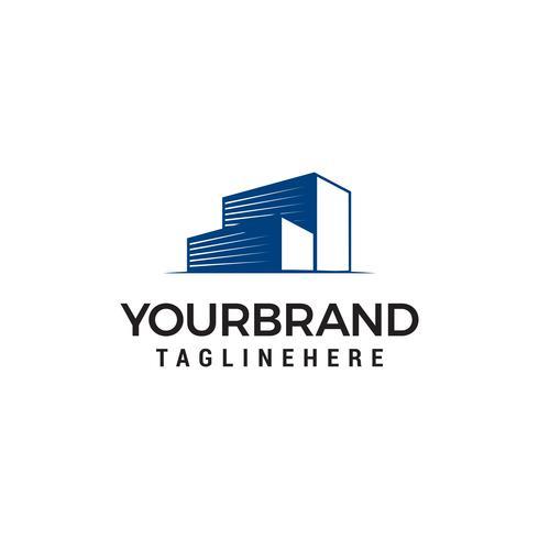 gebouw garage logo ontwerp concept sjabloon vector