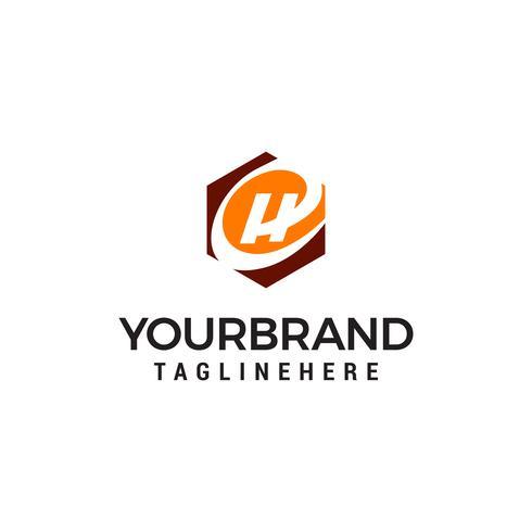 lettera H tecnologia esagono logo design concetto modello vettoriale