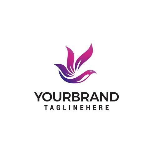 fliegender Vogel Logo Design Konzept Vorlage Vektor