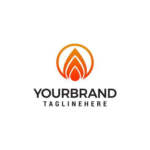 fuoco fiamma logo design concetto modello vettoriale