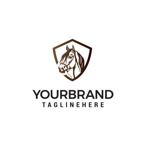 vector de plantilla de concepto de diseño de logotipo de cabeza caballo
