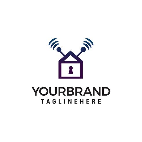Home Security Logo Design-Konzept Vorlage Vektor