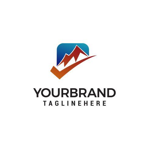 check mountain logo design concept template vector