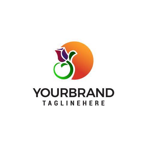 tulip logo design concept template vector