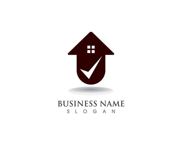 Home sweet home logo en symbool vector