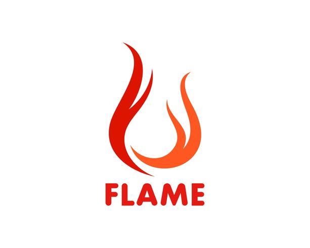 Brand vlam Logo sjabloon vector pictogram Olie, gas en energie logo concept